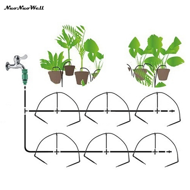 12pcs Micro Drip Emmiters Irrigation System Home Garden Bonsai Potted Flower Irrigate System Succulent Plants Watering Kits