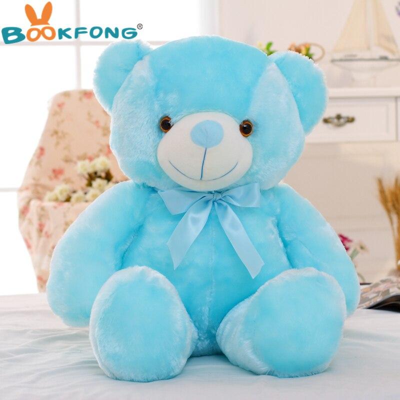 Bookfong 50cm Creative Light Up Led Teddy Bear Stuffed Animals Plush