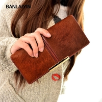 Fashion Fur Middle Separated Money Bag Women Purse Long Wallet Casual Lady Cash Purse Women Hand