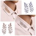 2016 Exquisita Manera de La Llegada Collar de la Hoja Del Pin Broches Para Mujeres de la Aleación Broche Broche 2 Colores Dropshipping