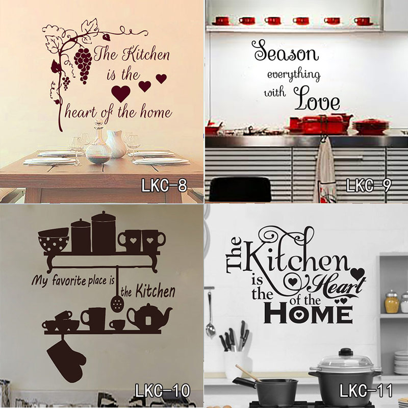 Kitchen house of love vinyl wall sticker home decor for Home decor 2 love