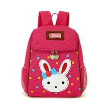 2017 Lovely Rabbit Cartoon School Bags for Baby Girls Children Backpacks Little Kids Kindergarten Bag Preschool