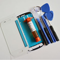Replace S3mini Front Outer Glass Lens for Samsung Galaxy S3 mini Gt-i8190 Top Touch screen & UV glue & tools & sticker
