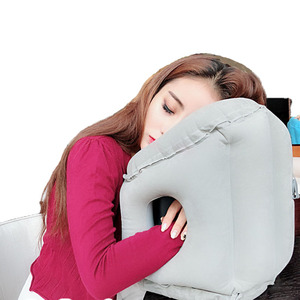 Image 3 - Upgraded Inflatable Air Cushion Travel Pillow Headrest Chin Support Cushions for Airplane Plane Car Office Rest Neck Nap Pillows