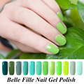 8ml Green Colors UV Gelpolish Base Top Coat Gel Nail Polish UV LED Vampire Nail Polish glass Green Color Soak Off Varnish