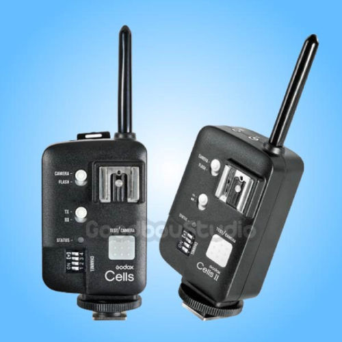 2PCS Godox Cells II 1/8000 Wireless HSS Flash Speedlite Trigger Transceiver for Canon 2pcs godox cells ii 1 8000s wireless transceiver trigger kit for canon eos camera speedlite and studio flashes