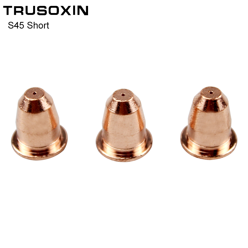 10PCS Plasma Cutter S45 Torch Trafimet Consumables PD0116 Short Cutting Tip in Welding Nozzles from Tools