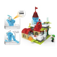 automatic cyclic track castle building blocks baby toys Educational DIY Toy for Children