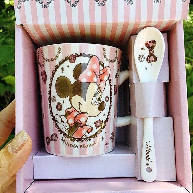 Cartoon Cute The Little Mermaid Ariel Alice Rapunzel Princess Minnie Porcelain Ceramic Tea Coffee Mug Cup Gift 5