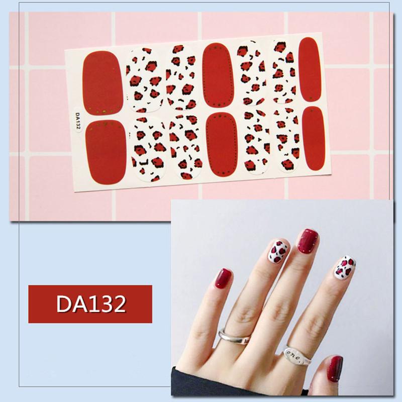 14 наконечников/лист для ногтей обертывания наклейки полоски