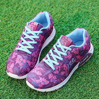סגול נשים ספורט נשים סניקרס קל הקיץ נקבה חיצוני אוהבי בד אוויר אתלטי הליכה נעלי ספורט נשי