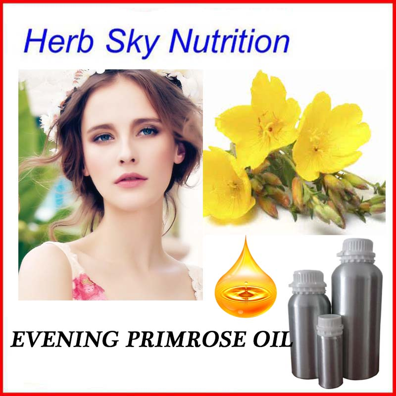 Cold Pressed Partially Refined Pure Organic Free Shipping Evening Primrose Seed Oil <font><b>Skin</b></font> Care Natural Product With Best Price
