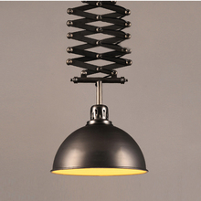 retro loft pendant lamps iron black lifting chandelier adjustable lighting fro home deco industrial restaurant living room light hot sell colorful loft restaurant pendant light for living room aluminum simple lamps home lighting living room free shipping