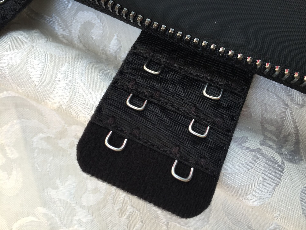 Meisou New Latex Waist Trainer Body Shaper Women Corset with Zipper Hot Shaper Cincher Corset Top Slimming Belt Black Plus Size (27)