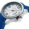 2015 CURREN Hombres de Moda Reloj Deportivo de Silicona Reloj de Los Hombres de Primeras Marcas de Lujo Reloj Militar Del Relogio masculino de Alta Calidad