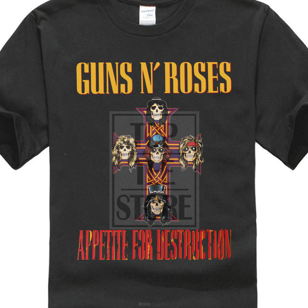Guns N Roses MenS Appetite For Destruction Slim Fit T Shirt Black ...