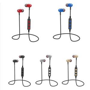 Image 5 - Fashion Magnetic Bluetooth Eaphone V5.0 Stereo Sports Waterproof Earbuds Wireless in ear Headset with Mic for iPhone Samsung