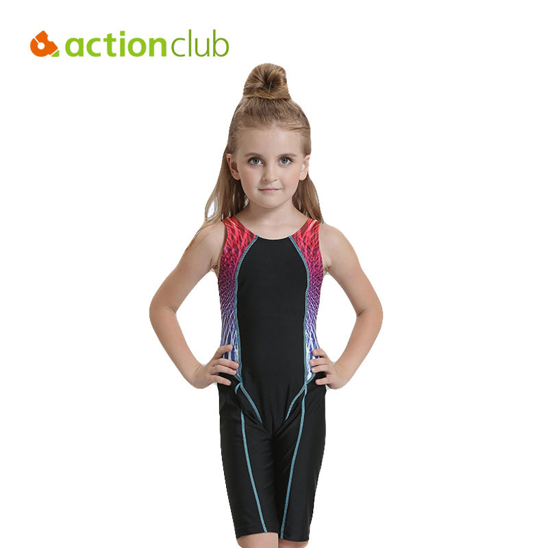 Actionclub Girls Professional Swimsuit Children Sport Swimwear One Piece Swimming Clothes Kids Beach Wear Bathing Suit запасная часть щетка графитовая makita cb 132 191972 1