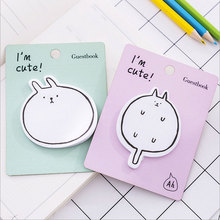 2X kawaii Animal plan Sticky Notes Post It Memo Pad Korean stationery School Supplies Planner Stickers Paper sticky note gift 6 colors 90 sheets writable index note paper sticky notes post it memo pad stationery office accessory school supplies