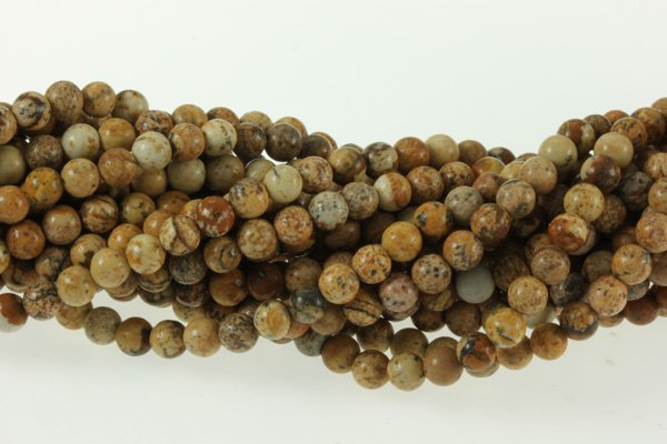 Низкая цена 20 нитей естественное изображение Jaspe r 4 мм круглый камень бисера 40 см/прядь