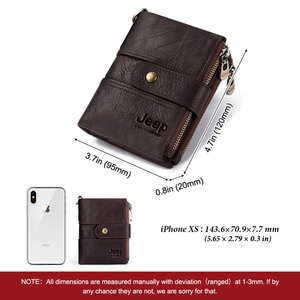 Image 3 - 2020 100% Genuine Leather Rfid Wallet Men Crazy Horse Wallets Coin Purse Short Male Money Bag Mini Walet High Quality Boys