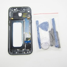 Panbon Housing Case replacement Parts For Samsung Galaxy A5 2017 A520 Middle frame Plate bezel Mid Chassis Backplate with tools