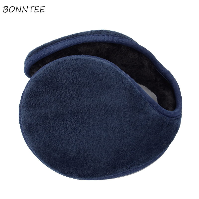 Earmuffs 2020 Unisex Rear Wear High Elasticity Cotton Thicken Warm Ear Warmers Lovely Korean Style Lovely Earmuff Antifreeze