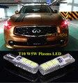 2 pcs T10 LED Luz de Estacionamento Do Lado Marcador Lâmpadas Para Infiniti EX35 EX37 FX37 FX35 FX45 FX50 G20 G25 G37 I30 I35 J30