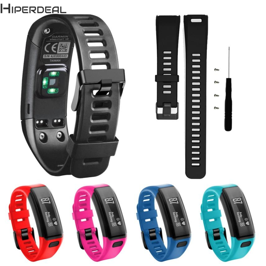 HIPERDEAL New Replacement Soft Silicone Bracelet Strap WristBand For Garmin Vivosmart HR 17Dec21 Dropshipping