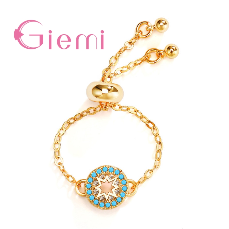 New Fashion Arrivals Wedding Jewelry Awesome Design: GIEMI New Arrivals Fashion 24K Gold Women Bridal Rings