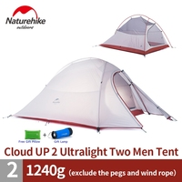 NatureHike 2 Person Tent ultralight 210T Plaid Fabric Tents Double layer Camping Tent Outdoor Tent
