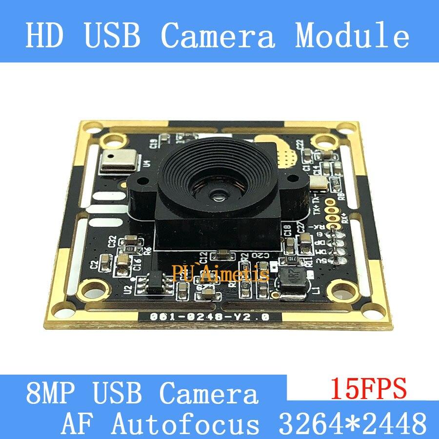 USB caméra module 800 W SONY IMX179 AF Autofocus HD visage reconnaissance support de caméra audio