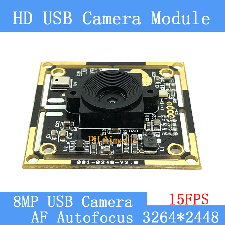 USB camera module 800W <font><b>SONY</b></font> <font><b>IMX179</b></font> AF Autofocus HD face recognition camera support audio image