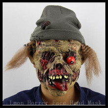 Free shipping Party Cosplay Zombie mask latex bloody scary halloween mask adutl costume party cosplay prop Ghost Mask in stock