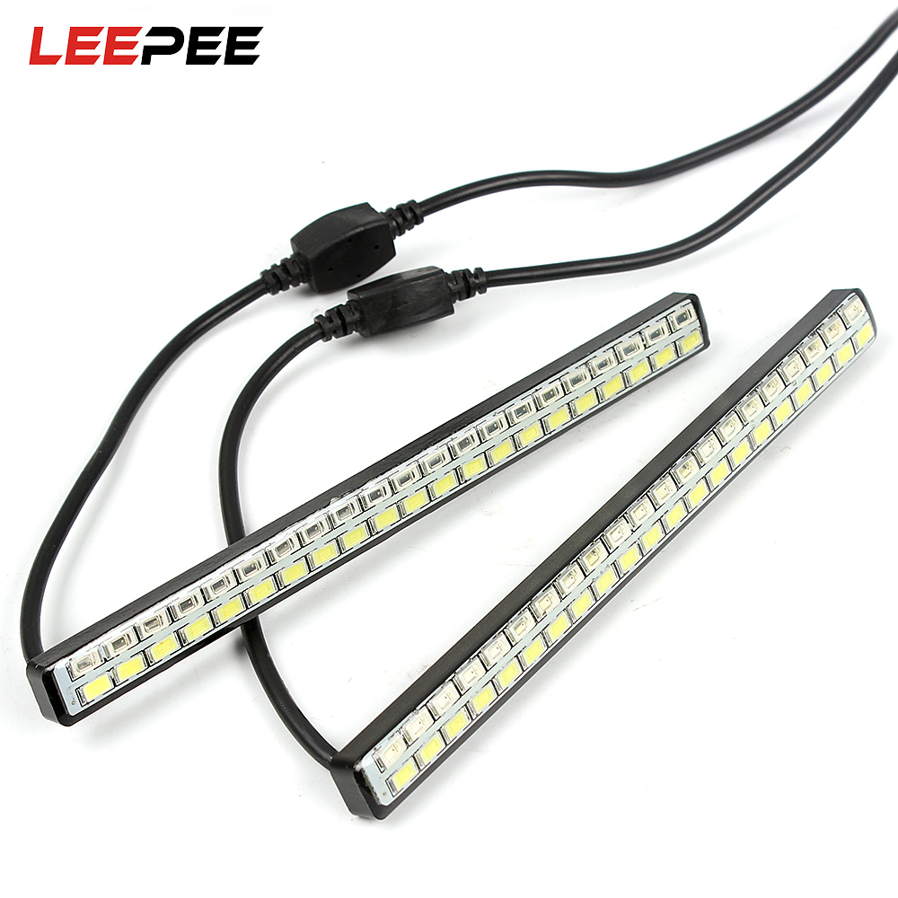 LEEPEE 42 LED Chips DC 12V Turn Signal Indicator Light 2Pcs DRL Car LED Daytime Running Lights Car Styling Waterproof 12v 3 pins adjustable frequency led flasher relay motorcycle turn signal indicator motorbike fix blinker indicator p34