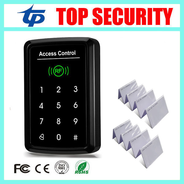 Standalone door access controller one door access control panel 125KHZ RFID card EM card reader door control system + 10pcs card weigand reader door access control without software 125khz rfid card metal access control reader with 180 280kg magnetic lock
