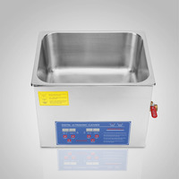 Free shipping to EU Digital Stainless 15L Ultrasonic Cleaner Ultra Sonic Bath Cleaning Tank Timer Heater