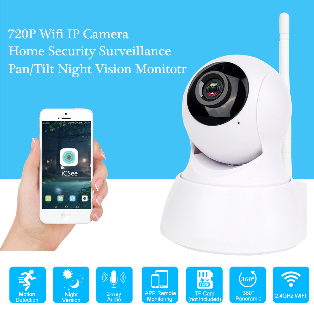 Wireless Security Camera 720P HD Wifi Home IP Camera Network Surveillance CCTV Camera IR Night Vision Baby Monitor APP ICSEE 720p hd home security ip camera wireless network cctv surveillance camera wifi ir cut night vision baby monitor security camera
