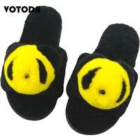 Winter Women Fur Slippers Warm Wool Shoes Rabbit Hair Panda Plush Cartoon Slippers Flat Home Flip Flops Female Cute Indoor Shoes