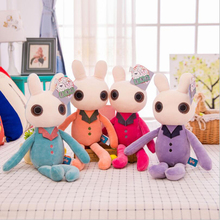 Creative Lovely Rabbit Plush Toy Stuffed Animal Doll Sleeping Birthday Gift For Children