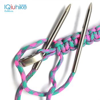 IQiuhike 2 sztuk Paracord tkania igły do 550 Paracord Fids sznurowanie szwy ze stali nierdzewnej łatwe przy użyciu szwy Corchet narzędzia tanie i dobre opinie FLYER TANG CN (pochodzenie) Knitting Needle Stainless Steel 2 pcs Paracord Fids Weaving Needles 3 * 0 2 inches (76 * 5 mm)