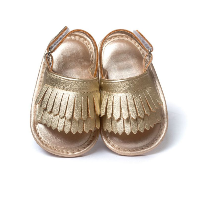 2017 Summer Children Shoes Prewalker PU Leather Baby Shoes Girls Princess Tassel Crib Shoes Without Logo