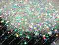 Mixed Size White with Colorful Tints Shining Nail Glitter Hexagon Powder Shape for Nail Art Decoration&Glitter Crafts
