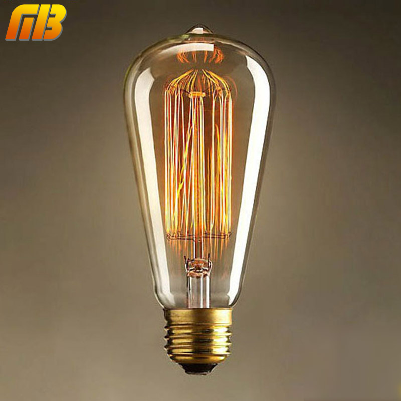 [MingBen] Vintage Edison Bulbs E27 220V Incandescent Bulbs 25W 40W 60W ST64 Filament Bulb Retro Edison Light For Pendant Lamp