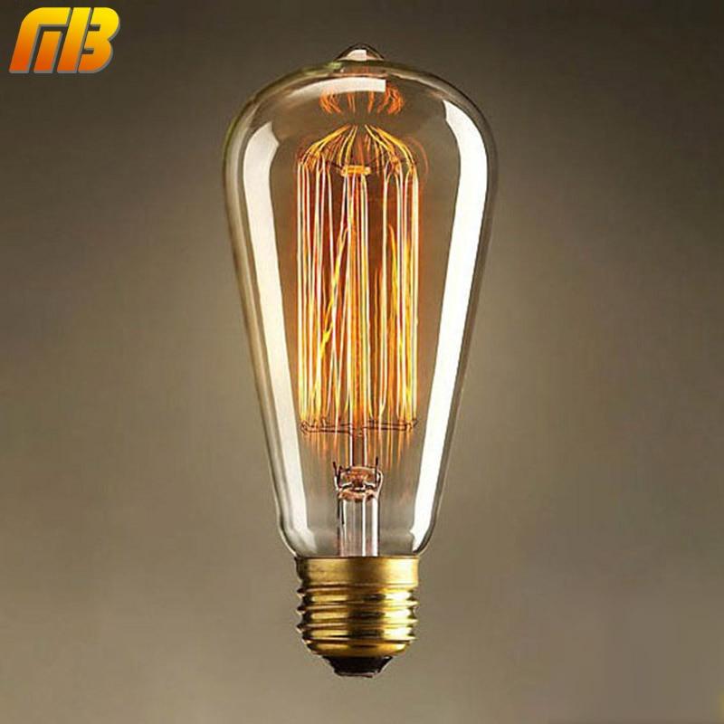 [MingBen] Vintage Edison Bulbs E27 E14 220V Incandescent Bulb 25W 40W 60W ST64 Filament Bulb Retro Edison Light For Pendant Lamp цена 2017