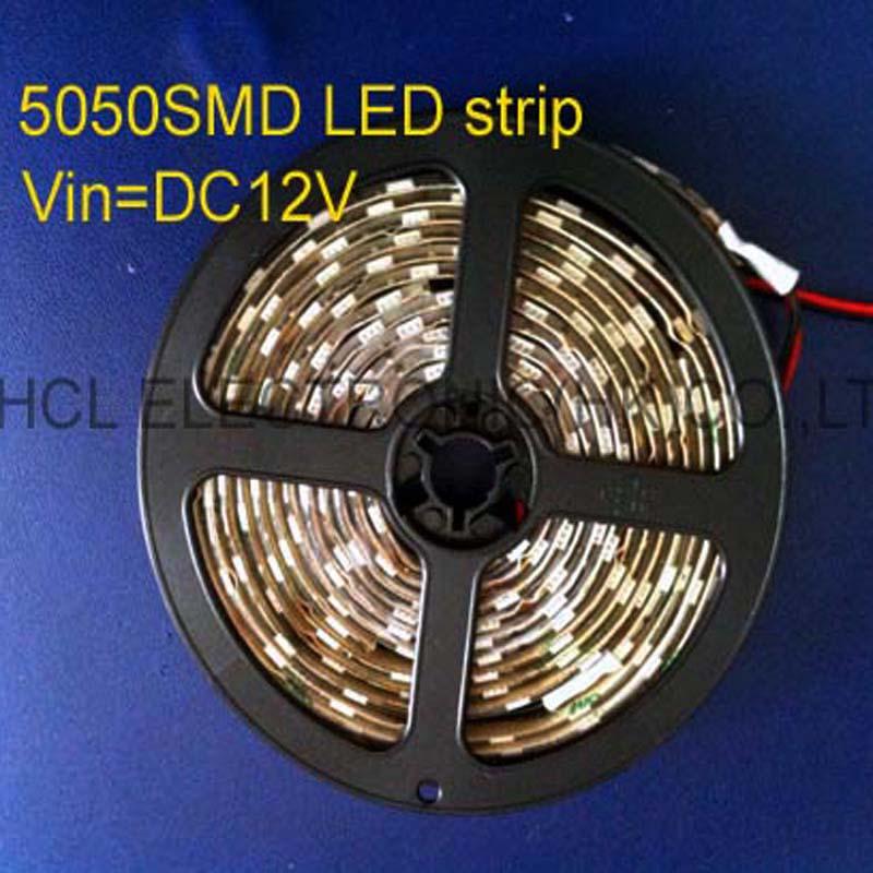 Hoge kwaliteit 5050 SMD DC12V led flex strip 60 stks / m, led zachte - LED-Verlichting