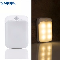 Best Quality PIR Motion Sensor LED Lights USB Rechargeable Portable Night Light For Hallway Pathway Closet