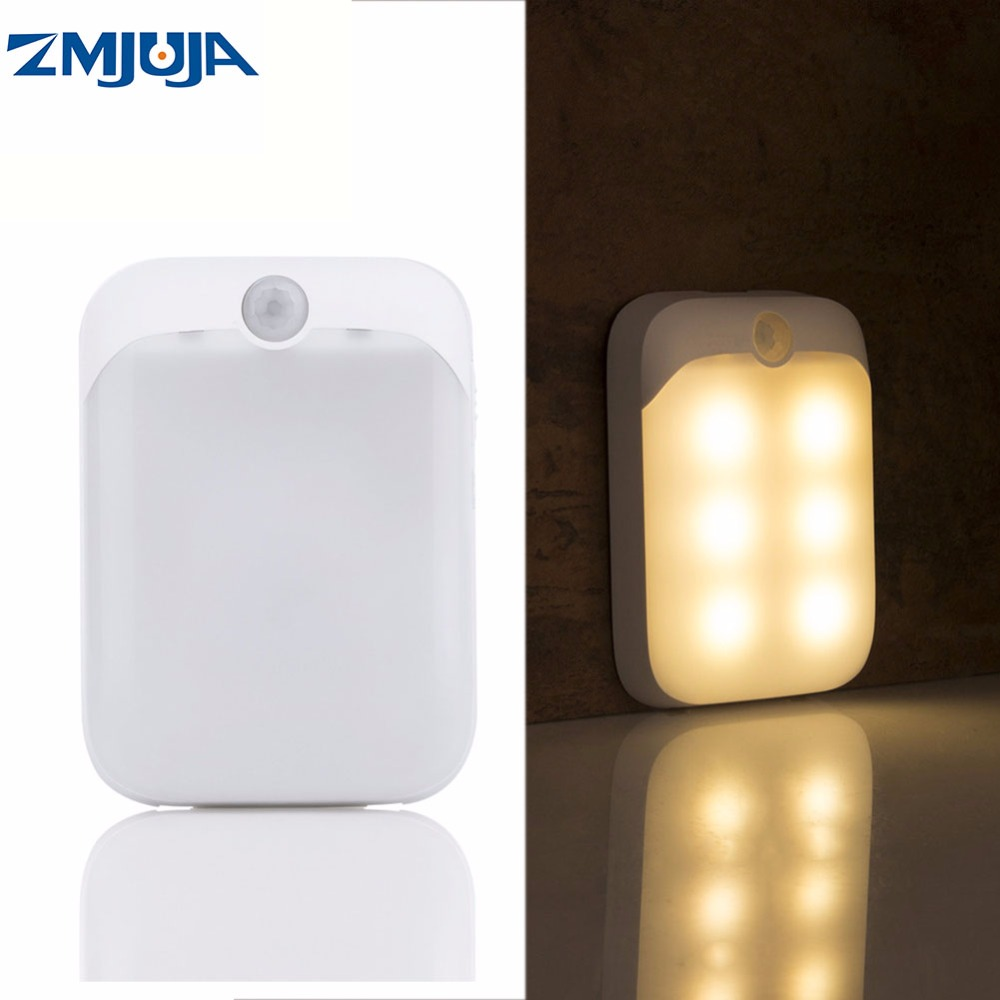 Novelty lighting PIR Motion Sensor LED Lights USB Rechargeable Portable Night Light for Hallway Pathway Closet Cabinet Lighting four leaf clover pir motion sensor led night light smart human body induction novelty battery usb closet cabinet toilet lamps