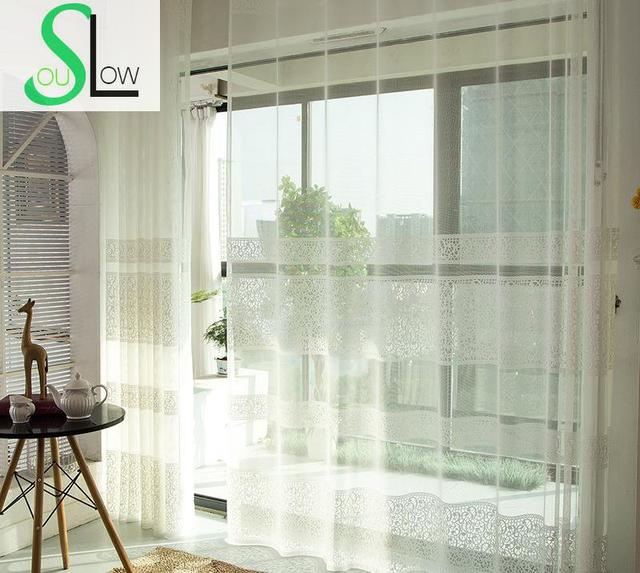 US $7.56 37% OFF|Slow Soul White Bedroom Embossed Fashion Curtain Pleated  Europe Curtains Cortinas Tulle For Living Room Kitchen Sheer Blinds-in ...