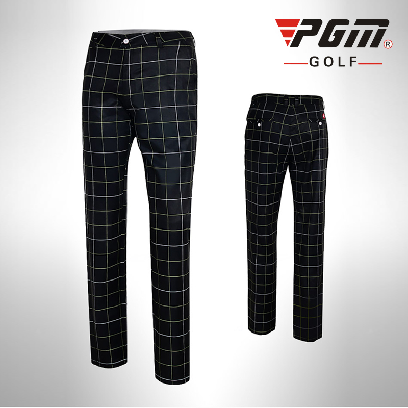 PGM Colorful Golf Pants For Men Plaid Men's Sports Pants ...